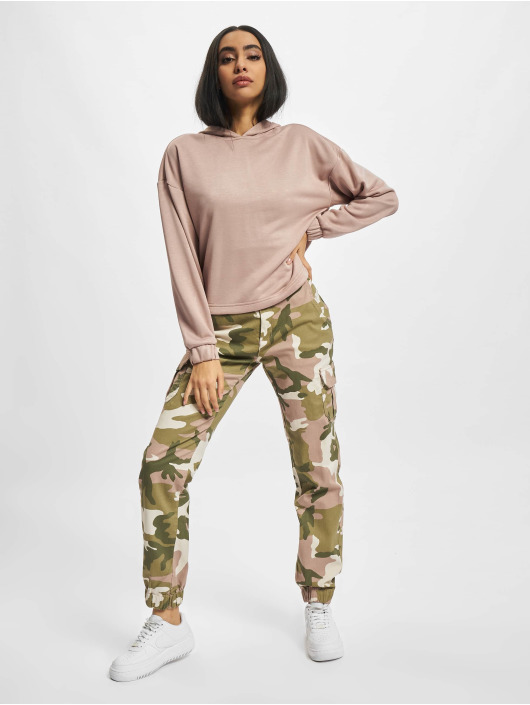 Urban Classics Spodnie Chino/Cargo Ladies High Waist Camo moro