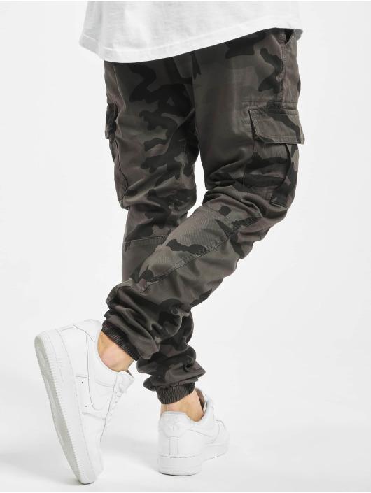 Urban Classics Spodnie Chino/Cargo Camo szary