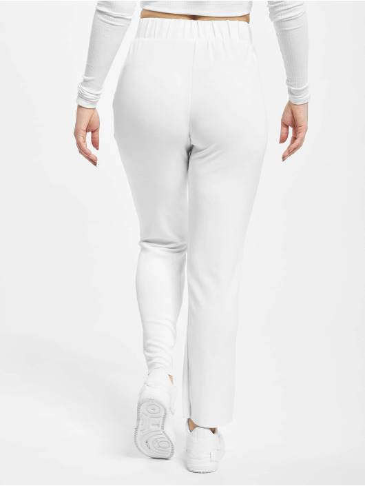 Urban Classics Spodnie do joggingu Ladies Soft Interlock bialy