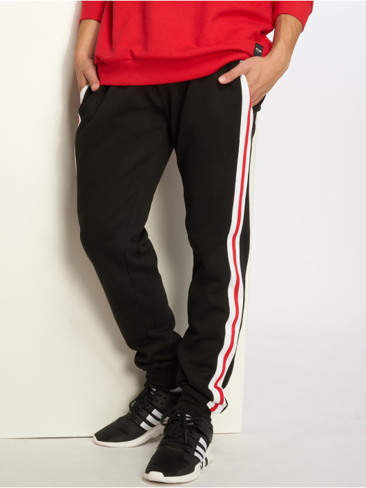 Urban Classics Spodnie do joggingu 3-Tone Side Stripe Terry czarny