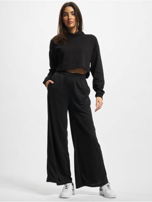 Urban Classics Spodnie do joggingu Ladies Modal Terry Wide Leg czarny