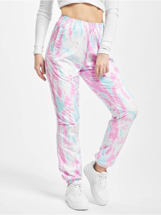 Urban Classics Spodnie do joggingu Ladies Tie Dye niebieski