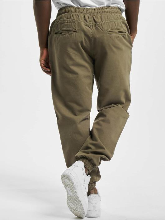 Urban Classics Spodnie do joggingu Washed Canvas oliwkowy