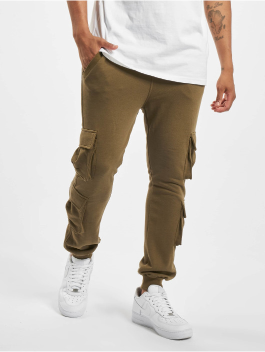 Urban Classics Spodnie do joggingu Double Pocket Terry oliwkowy