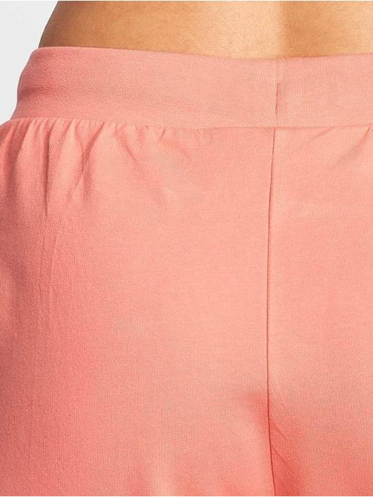 Urban Classics Spodnie do joggingu Open Edge Terry Turn Up rózowy
