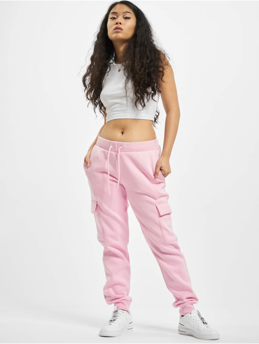 Urban Classics Spodnie do joggingu Ladies Cargo rózowy