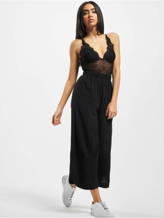Urban Classics Spodnie wizytowe Wide Viscose czarny
