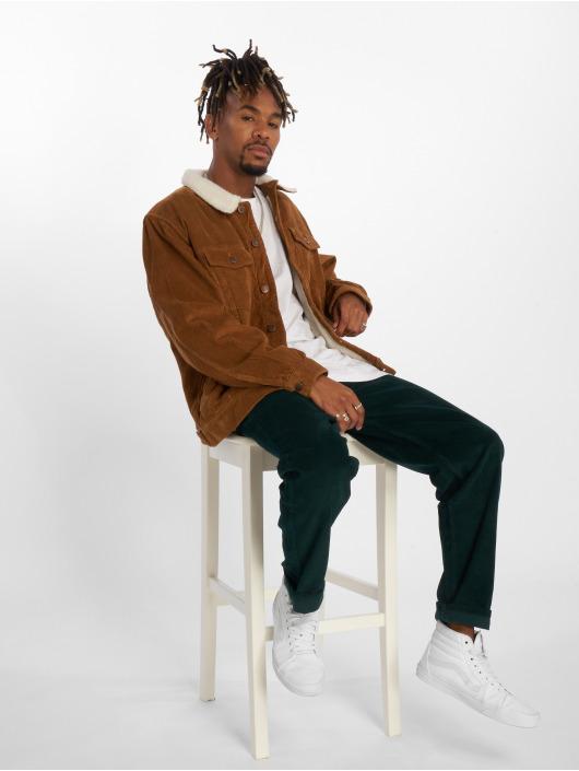 Urban Classics Spodnie wizytowe Corduroy 5 Pocket zielony