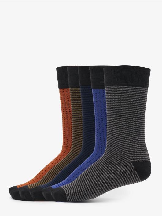 Urban Classics Strømper Stripes And Dots 5-Pack mangefarvet