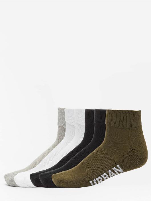 Urban Classics Strømper High Sneaker 6-Pack sort