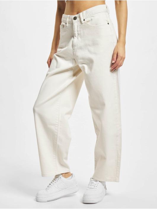 Urban Classics Straight Fit farkut Ladies High Waist Wide Leg Cropped Denim beige
