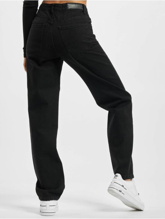Urban Classics Straight Fit Jeans Ladies High Waist Straight black