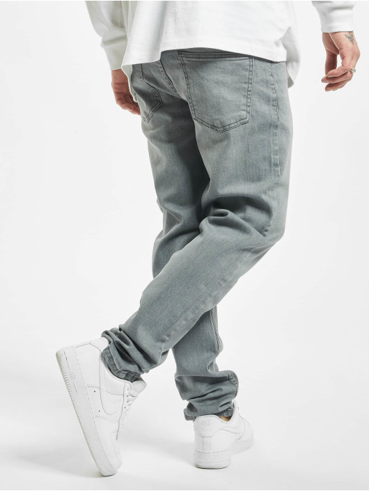Urban Classics Straight Fit Jeans Stretch Denim grau