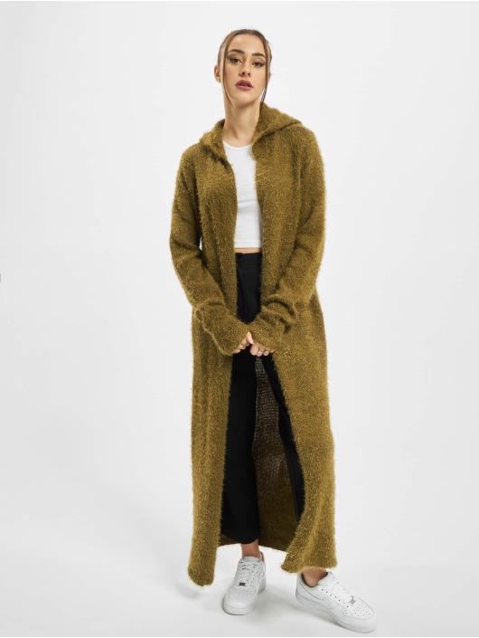 Urban Classics Strickjacke Ladies Hooded Feather olive