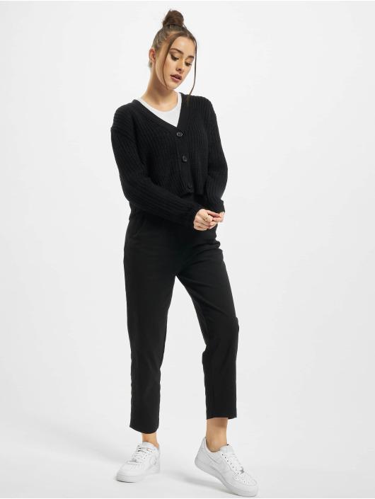 Urban Classics Strickjacke Ladies Short schwarz