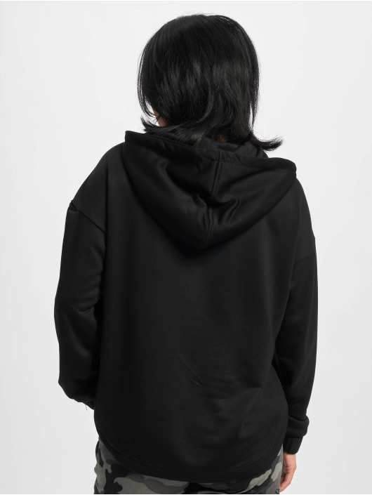 Urban Classics Sudadera Ladies Oversized Shaped Modal Terry negro