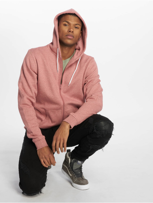 Urban Classics Sudaderas con cremallera Melange rosa