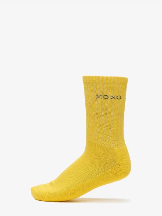 Urban Classics Sukat Wording Socks 3-Pack keltainen