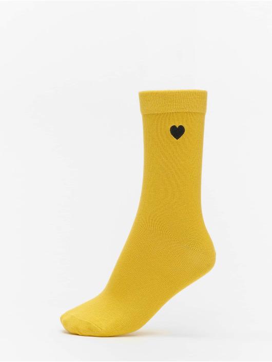 Urban Classics Sukat Heart Socks 3-Pack keltainen