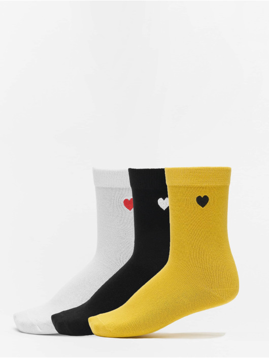Urban Classics Sukat Heart Socks 3-Pack musta
