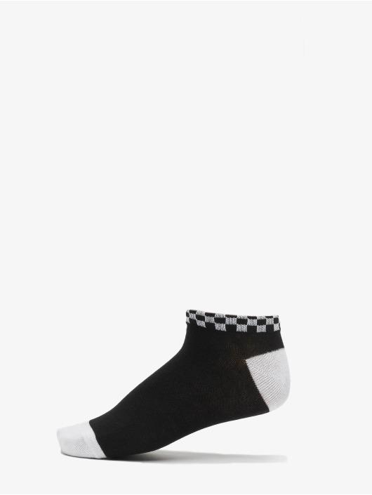 Urban Classics Sukat Sneaker Socks Checks 3-Pack musta