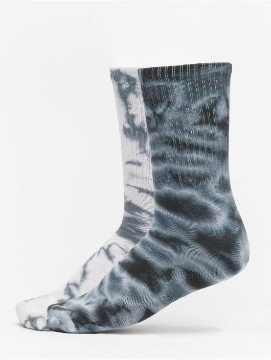 Urban Classics Sukat High Socks Tie Dye 2-Pack musta