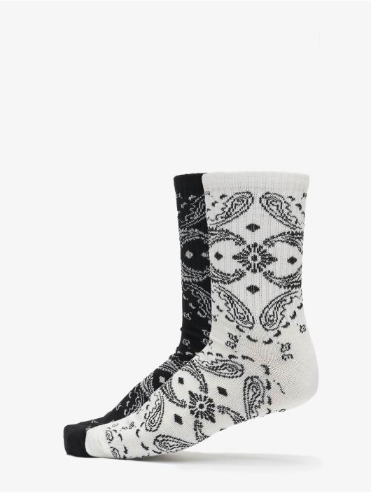Urban Classics Sukat Bandana Pattern Socks 2-Pack musta