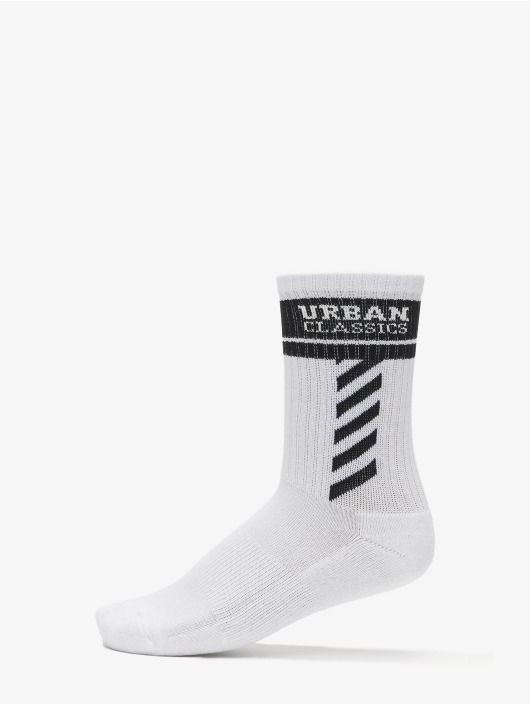 Urban Classics Sukat Sporty Logo Socks 3-Pack valkoinen
