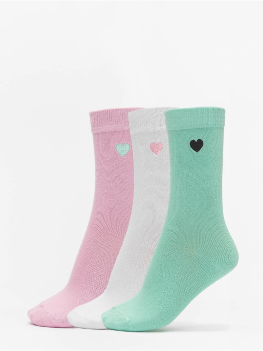 Urban Classics Sukat Heart Socks 3-Pack vihreä