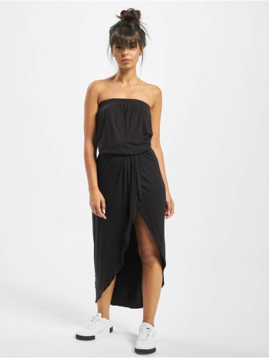 Urban Classics Sukienki Ladies Viscose Bandeau czarny