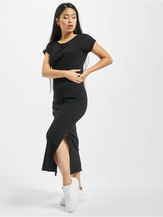 Urban Classics Sukienki Ladies Slub czarny