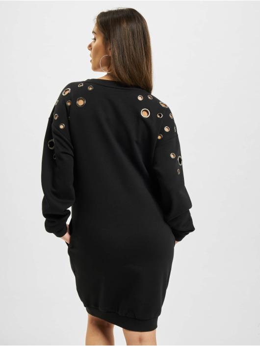 Urban Classics Sukienki Sweat Eyelet czarny