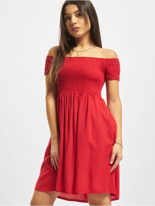 Urban Classics Sukienki Smoked Off czerwony