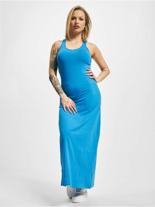 Urban Classics Sukienki Long Racer Back niebieski