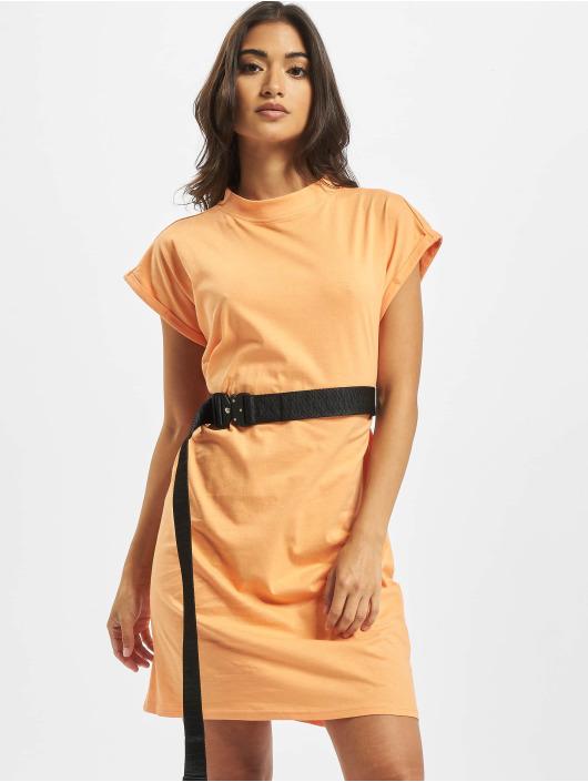 Urban Classics Sukienki Turtle Extended Shoulder pomaranczowy