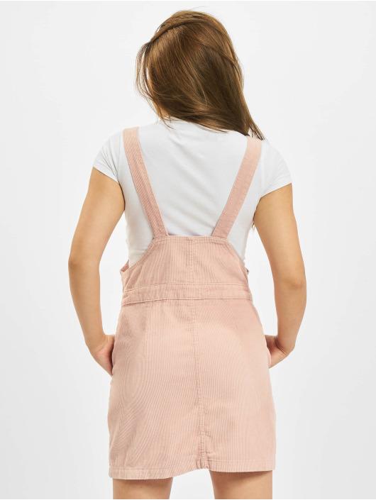 Urban Classics Sukienki Corduroy Dungaree rózowy
