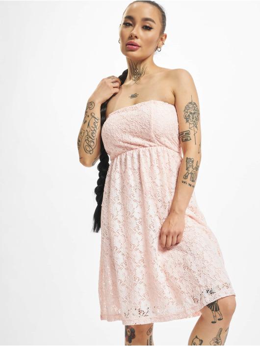Urban Classics Sukienki Laces rózowy