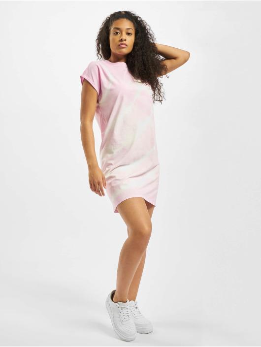 Urban Classics Sukienki Tie Dye rózowy