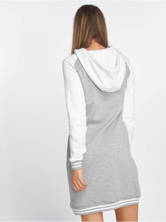 Urban Classics Sukienki Contrast College Hooded szary