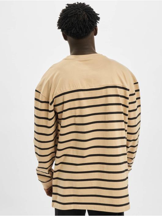 Urban Classics Svetry Color Block Stripe Boxy LS čern