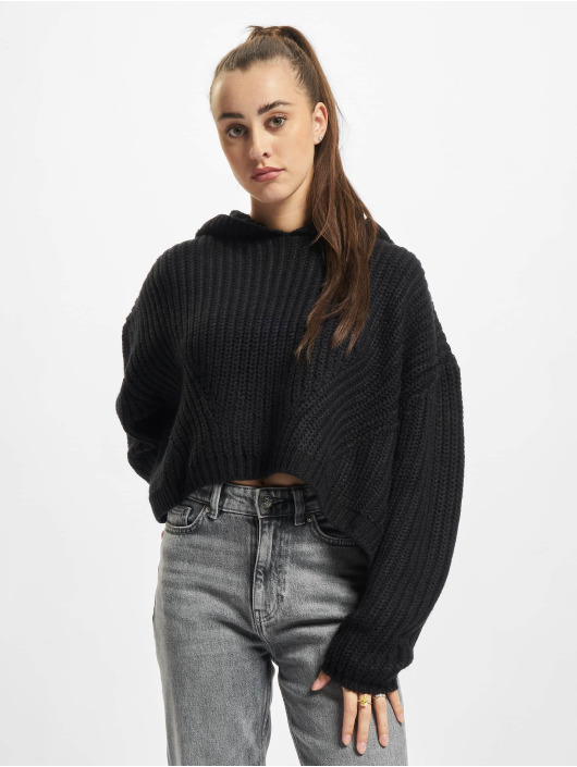 Urban Classics Svetry Ladies Oversized čern