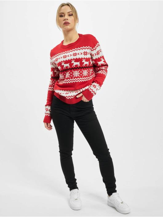 Urban Classics Svetry Ladies Norwegian Christmas červený