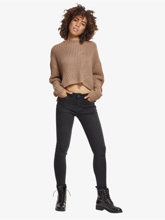 Urban Classics Svetry Ladies Wide Oversize šedá