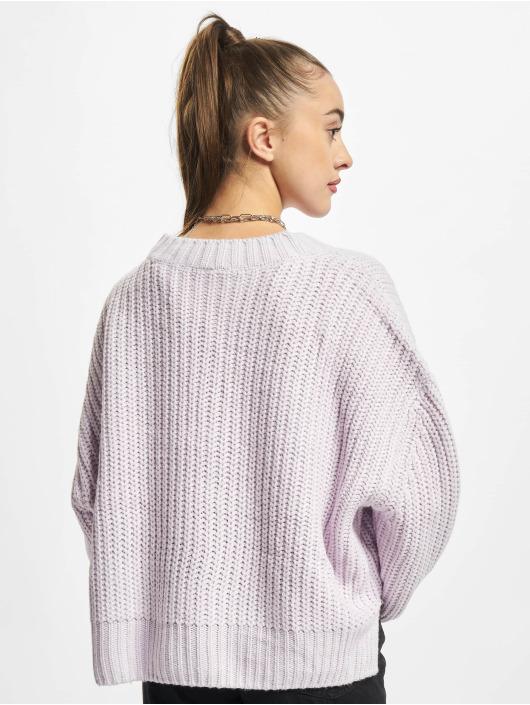 Urban Classics Svetry Ladies Wide Oversize fialový
