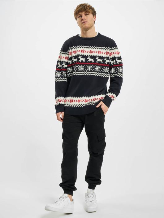 Urban Classics Svetry Norwegian Christmas modrý