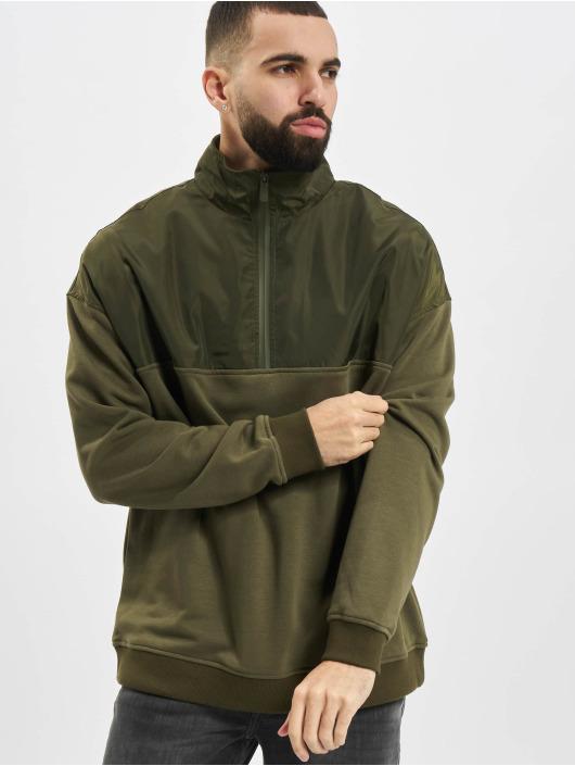 Urban Classics Svetry Military olivový