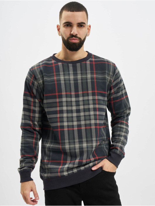Urban Classics Sweat & Pull AOP Check Crew bleu