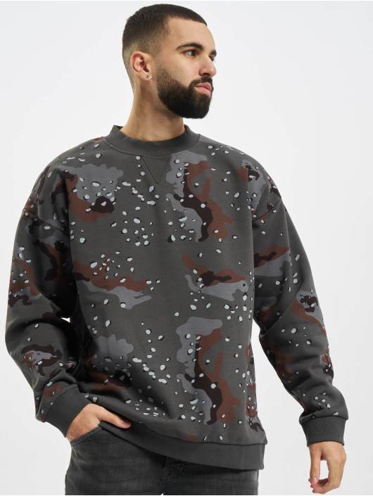 Urban Classics Sweat & Pull Oversized Dark AOP camouflage