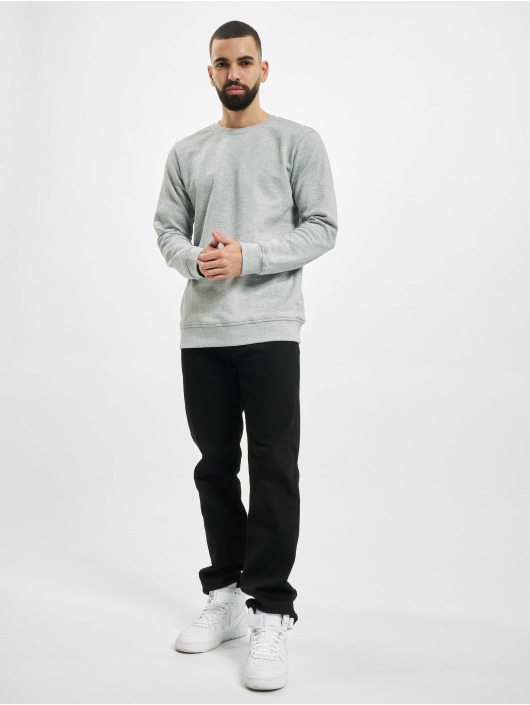 Urban Classics Sweat & Pull Organic Basic Crew gris