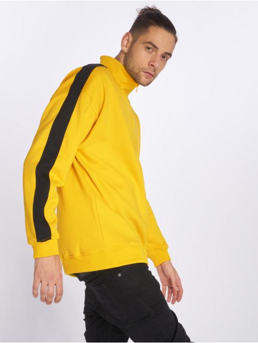 Urban Classics Homme Sweatamp; Oversize Stripe Troyer Jaune 562956 Pull fyY67vbg